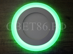 LED Panel 12W с подсветкой зеленой