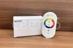 Контроллер RGB для управления многоцветными светодиодными источниками света  с пультом ДУ белый