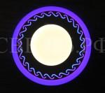 LED Panel 18W с подсветкой синий с ОРНАМЕНТОМ