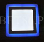 LED Panel 18W с подсветкой синий КВАДРАТ